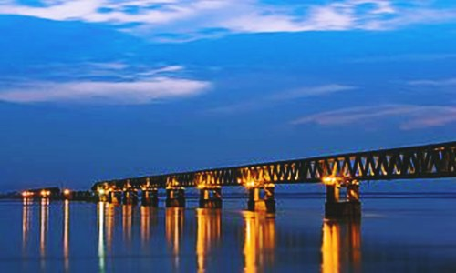 Bogibeel Bridge construction